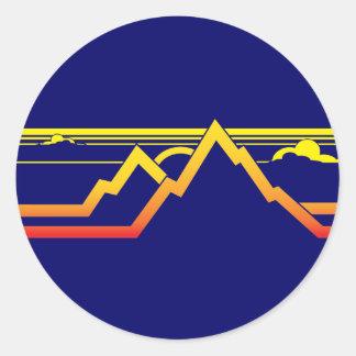 Mountains Round Sticker