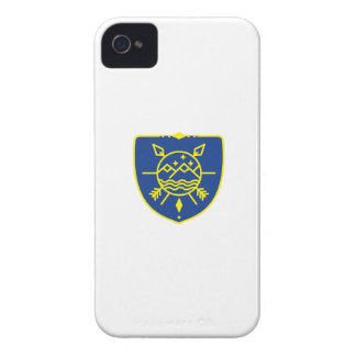 Mountains Sea Stars Crest Mono Line iPhone 4 Cover
