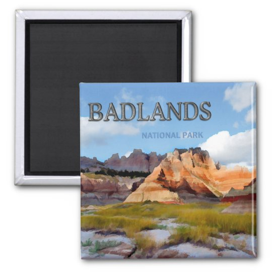 Mountains & Sky in the Badlands National Park Magnet