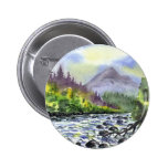 Mountains Sky Painting Destiny Artistic Nature Pinback Buttons