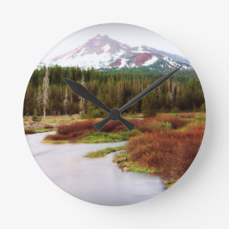 Mountains Snow Southwestern Frozen Winter Fall Wallclocks