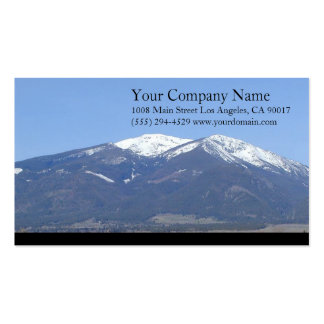 Mountains Snowy Wooded Trees Grassland Pack Of Standard Business Cards