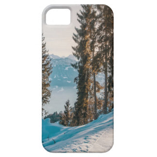 mountains trees and snow iPhone 5 cover