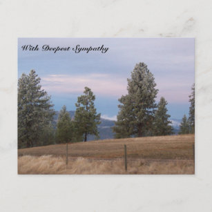 mountains trees bible verse sympathy card - Bible Verses For Sympathy Cards
