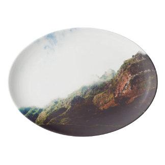 Mountains Wanderlust Adventure Nature Landscape Porcelain Serving Platter