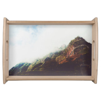 Mountains Wanderlust Adventure Nature Landscape Serving Tray