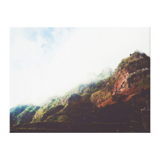 Mountains Wanderlust, Relaxing Nature Landscape Canvas Print