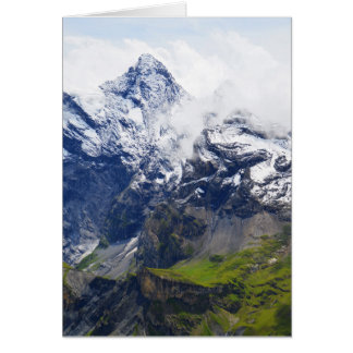 Mountainside in the Swiss alps Card