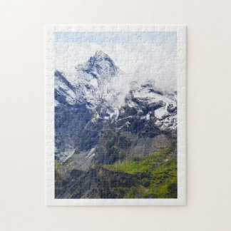 Mountainside in the Swiss alps Jigsaw Puzzle