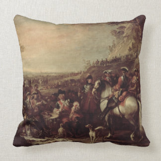 Mounted Dragoons of the King's Household, 1737 (oi Throw Pillow