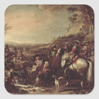 Mounted Dragoons of the King's Household, 1737 (oi Square Sticker