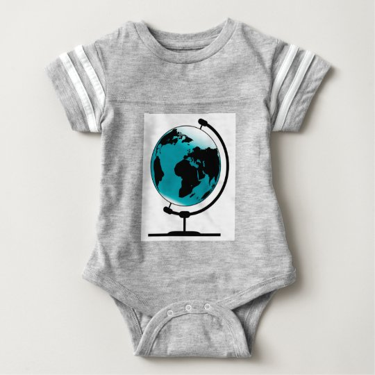 Mounted Globe On Rotating Swivel Baby Bodysuit