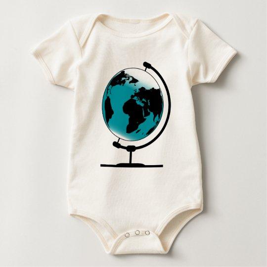 Mounted Globe On Rotating Swivel Baby Bodysuit
