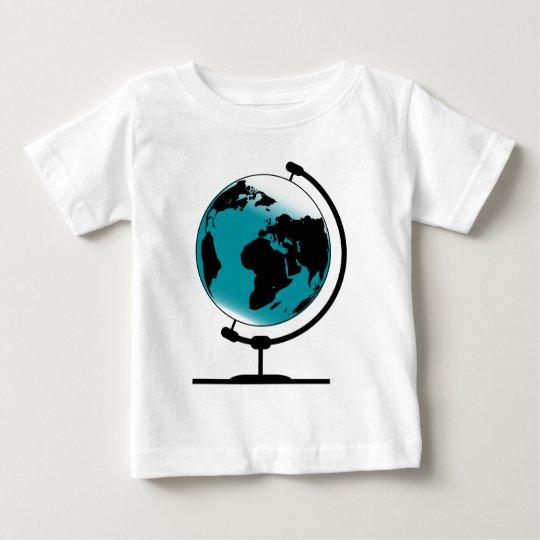 Mounted Globe On Rotating Swivel Baby T-Shirt
