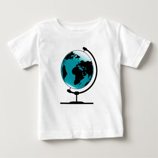 Mounted Globe On Rotating Swivel Baby T-Shirt