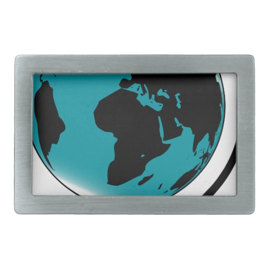 Mounted Globe On Rotating Swivel Belt Buckle
