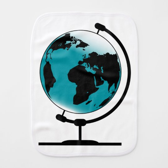 Mounted Globe On Rotating Swivel Burp Cloth