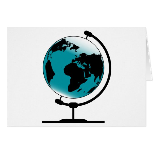 Mounted Globe On Rotating Swivel Card