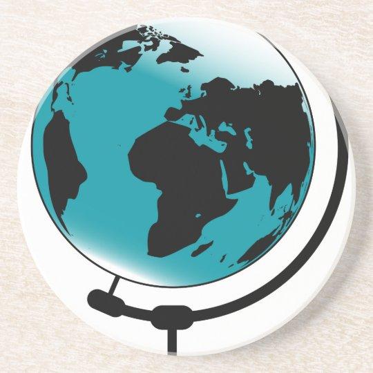 Mounted Globe On Rotating Swivel Coaster