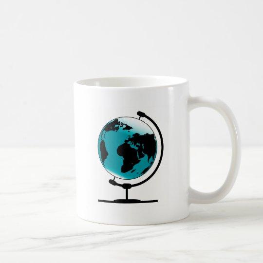 Mounted Globe On Rotating Swivel Coffee Mug
