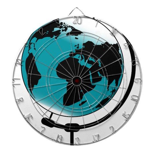 Mounted Globe On Rotating Swivel Dartboard