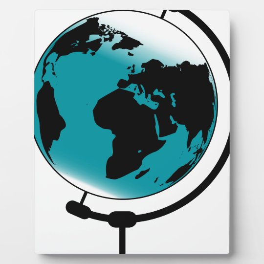 Mounted Globe On Rotating Swivel Display Plaques