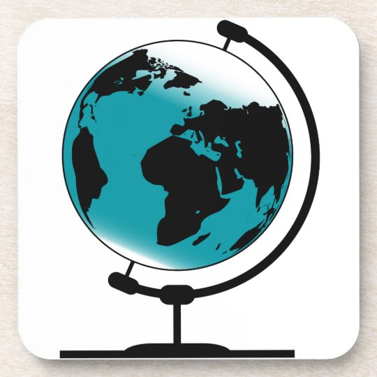 Mounted Globe On Rotating Swivel Drink Coasters
