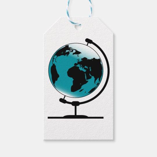 Mounted Globe On Rotating Swivel Gift Tags