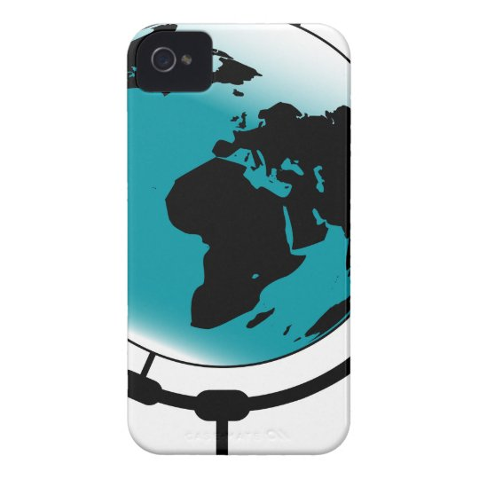 Mounted Globe On Rotating Swivel iPhone 4 Case