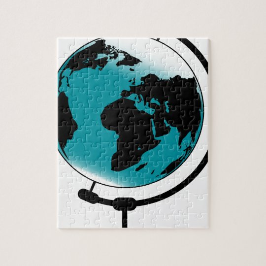 Mounted Globe On Rotating Swivel Jigsaw Puzzle