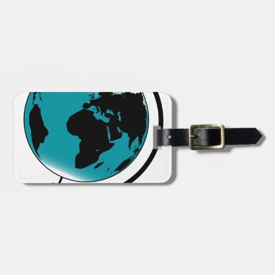 Mounted Globe On Rotating Swivel Luggage Tag