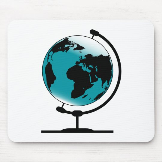 Mounted Globe On Rotating Swivel Mouse Pad