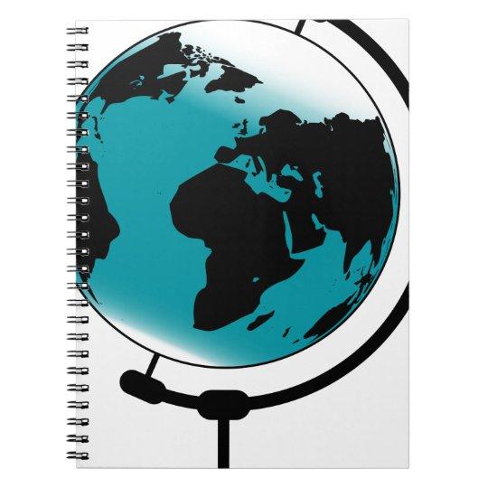 Mounted Globe On Rotating Swivel Notebook