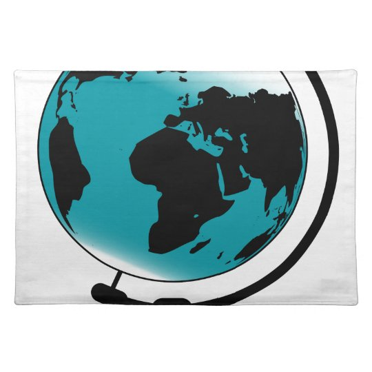 Mounted Globe On Rotating Swivel Placemat