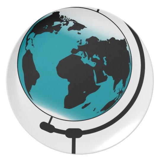 Mounted Globe On Rotating Swivel Plate