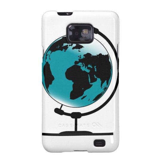 Mounted Globe On Rotating Swivel Samsung Galaxy S2 Case