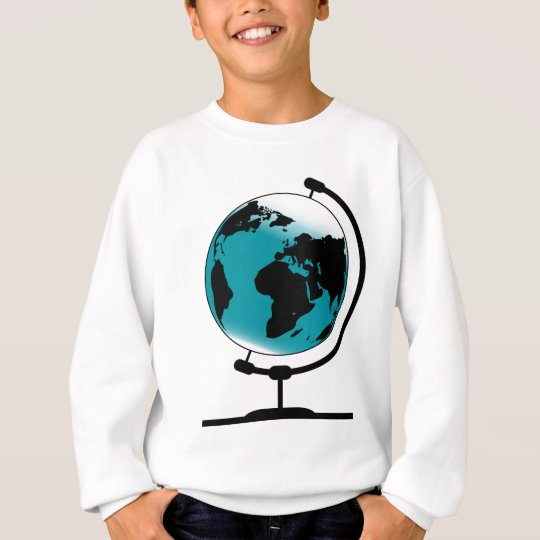 Mounted Globe On Rotating Swivel Sweatshirt