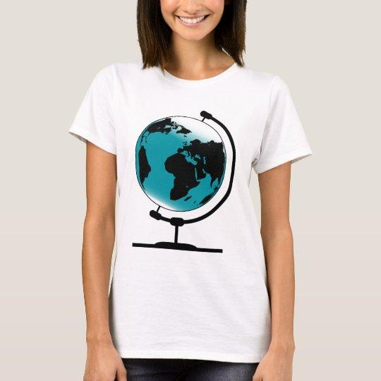 Mounted Globe On Rotating Swivel T-Shirt