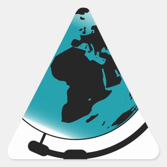 Mounted Globe On Rotating Swivel Triangle Sticker