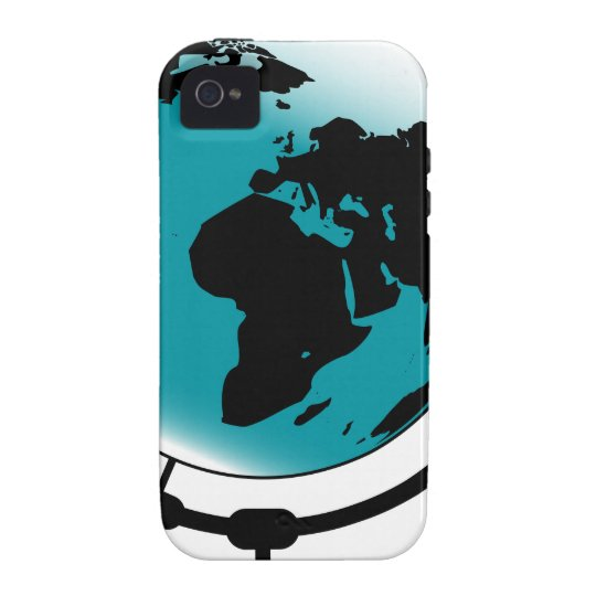 Mounted Globe On Rotating Swivel Vibe iPhone 4 Case