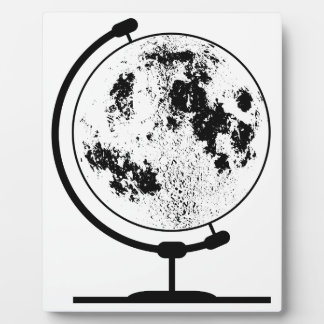 Mounted Lunar Globe On Rotating Swivel Plaque