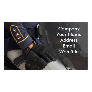 Mounted Police Business Card Template