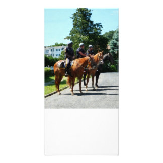 Mounted Police Profile Photo Greeting Card
