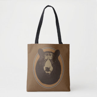 Mounted Taxidermy Bear Head Graphic Tote Bag