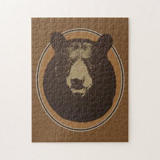 Mounted Taxidermy Bear Head Jigsaw Puzzle