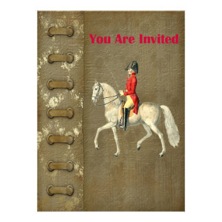 Mounted Victorian Military Officer Announcement