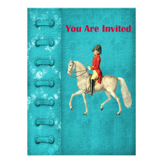 Mounted Victorian Military Officer Custom Invites