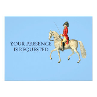 Mounted Victorian Military Officer Personalized Invitation