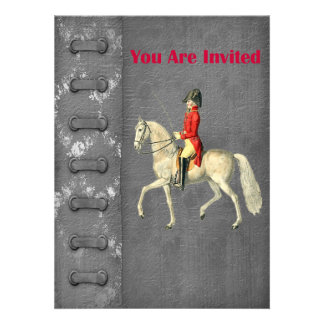 Mounted Victorian Military Officer Invite
