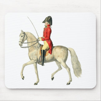 Mounted Victorian Military Officer Mouse Pad